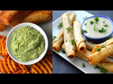 7 Vegan Dipping Sauces (3 Creamy + 4 Fat Free)