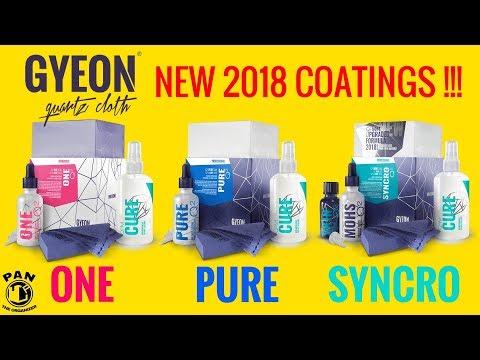NEW GYEON 2018 CERAMIC COATINGS : Q2 One, Pure & Syncro !