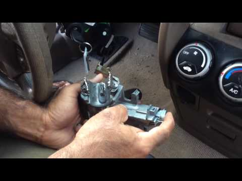 Honda CR-V 2002 Ignition lock cylinder replacement and bypass key programming