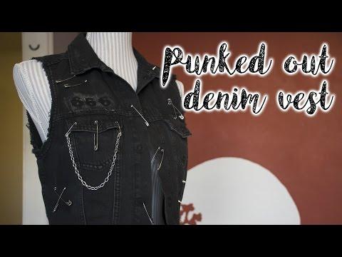 DIY - punked out denim vest