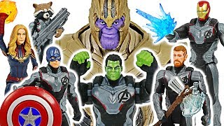 Thanos appeared! Avengers 4 End Game!  Go! Captain Marvel, Hulk, Thor, Iron Man #DuDuPopTOY