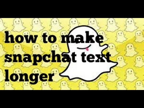 SNAPCHAT TIPS|HOW TO MAKE TEXTS LONGER|DCF