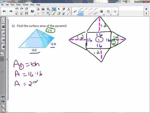 6th Grade 10-5: Surface Area of Pyramids