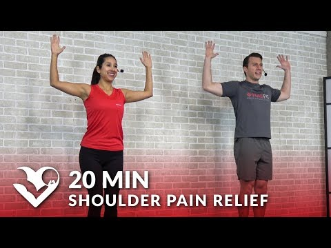 20 Min Shoulder Pain Relief Exercises & Stretches - Shoulder Stretching & Strengthening Exercises