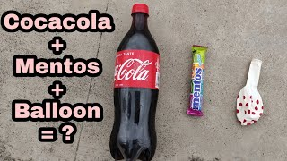 cocacola With Mentos And Balloon Experiment | Balloon Experiment | Cocacola Experiment | Mentos
