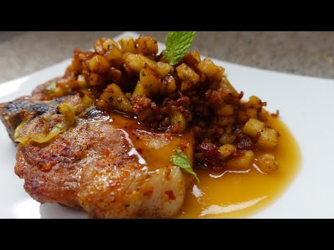 How To Make Baked Pork Chop and Bacon Apple Hash