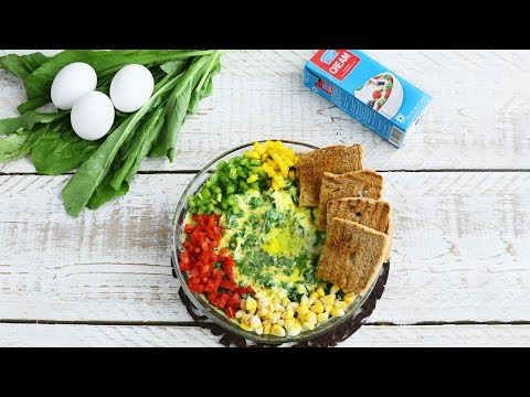 Baked Eggs With Spinach And Cheese