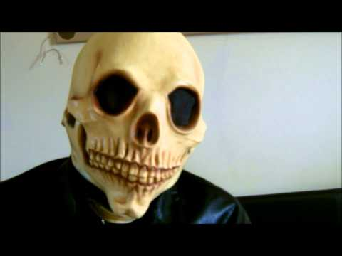 Ghost Rider Skeleton Latex Mask from the USA