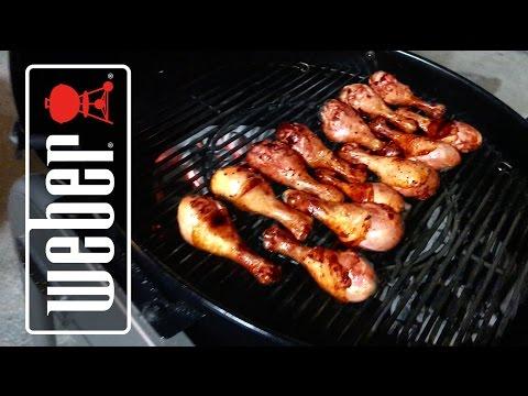 BBQ Chicken Legs Drumsticks on Weber Kettle Grill