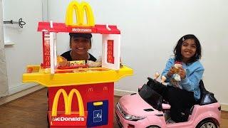 Mcdonald S Drive Thru Kids Pretend Play Toy Kitchen Playset