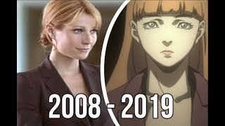 Download Evolution of Pepper Potts (a.k.a Rescue) in movies and cartoons (2008 - 2019) Video