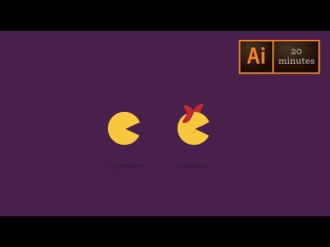 Ms Pac Man Animated Gif: Part 1 Adobe Illustrator - Illustration