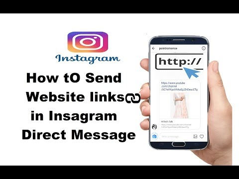 How to send website link/clickable link in Instagram Direct Message.