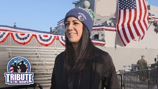 Bayley is surprised by the daily US National Anthem at Naval Base San Diego: Exclusive, Dec 12, 2017