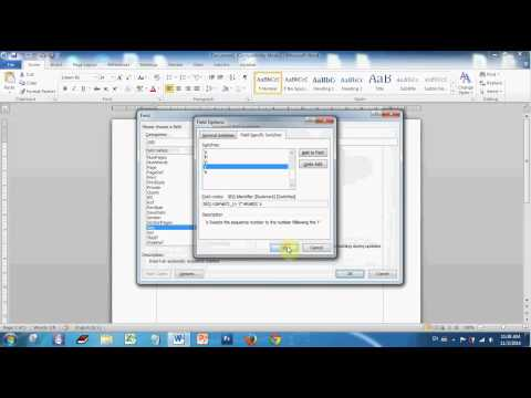 How to create Auto number in caption of Microsoft word