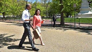 President Obama Walks The Streets Of Washington