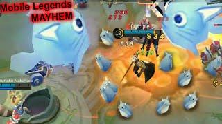 WTF Mobile Legends MAYHEM again Funny Moments |too many NANA