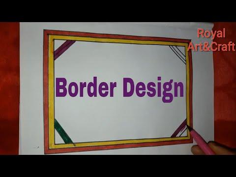 How to make greeting card border design    Tutorial greeting border design for kids    #01