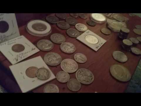 My non faced cousin's coin collection part 1