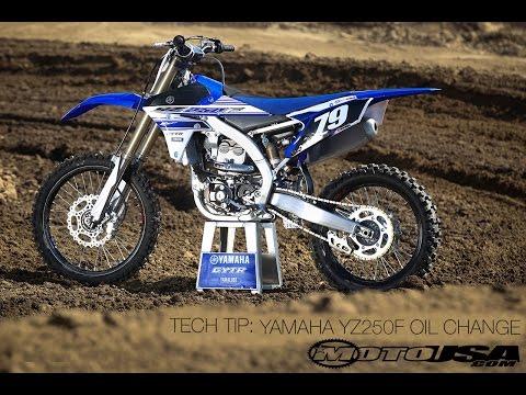 Tech Tip: Changing Oil On A Yamaha YZ250F - MotoUSA