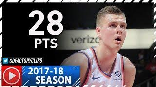 Kristaps Porzingis Full Highlights vs Hawks (2017.11.24) - 28 Pts