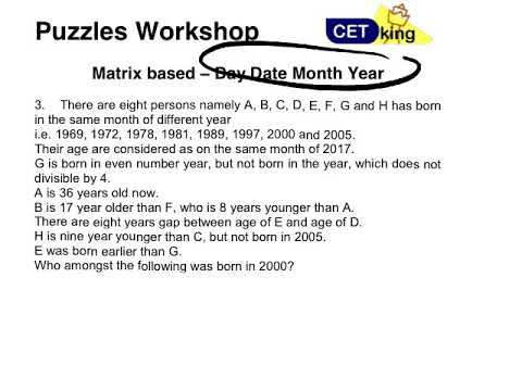 Day Date Month Year New pattern puzzle 100 questions pdf
