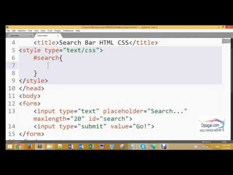how to Create a Professional Search bar Pure - HTML CSS
