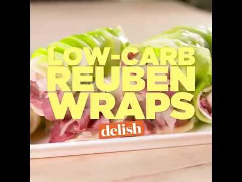 Healthy Recipes - Low-Carb Reuben Wraps