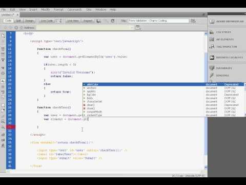 [Javascript] Form Validation