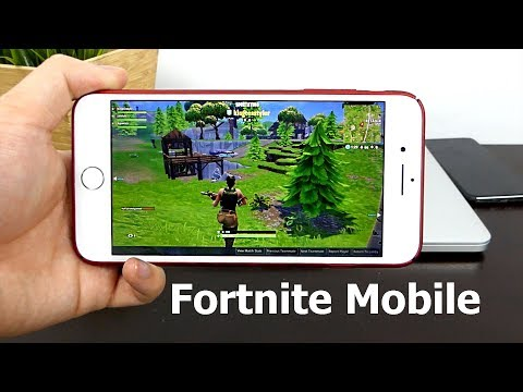Fortnite Mobile Gameplay on iPhone 7! Invitation, Graphics/Performance