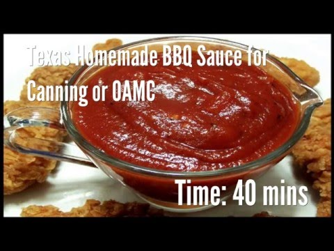 Texas Homemade BBQ Sauce for Canning or OAMC Recipe