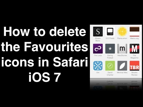 How to delete the Favourites icons in Safari iOS 7
