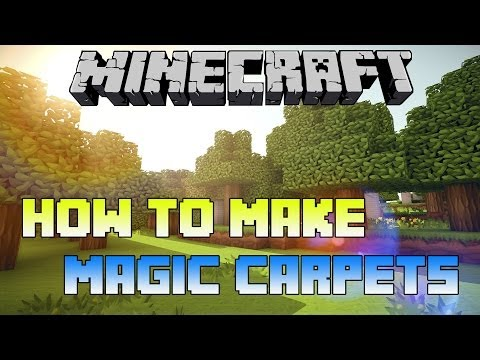 Minecraft PS3 - How to Make Magic Floating Carpets (Carpet Glitch in Minecraft PS4 and Xbox One)