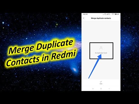 How to Merge Duplicate Contacts in Redmi Note 5