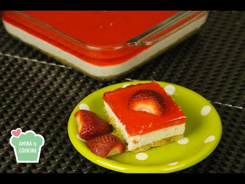 No Bake Strawberry Jelly Cake - Episode 117 - Amina is Cooking