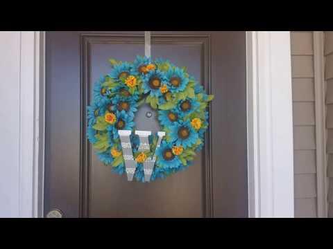 #001 DOOR WREATH DIY
