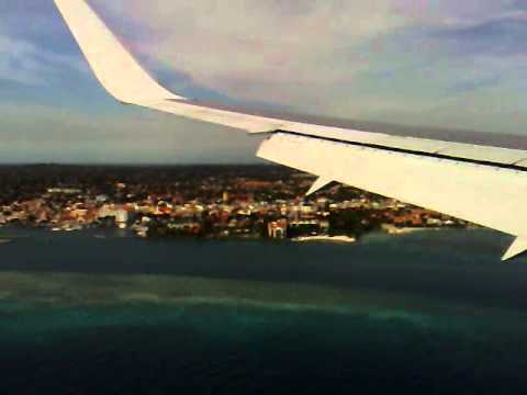 Approach and landing at Aruba (TNCA) in a Thomson First Choice B767