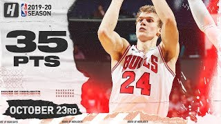 Lauri Markkanen Full Highlights Bulls vs Hornets (2019.10.23) - 35 Points, 17 Reb