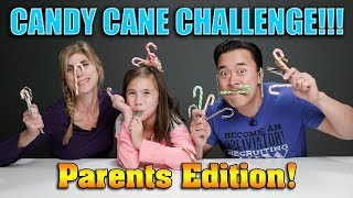 CANDY CANE CHALLENGE - PARENTS EDITIONS!!! Weird Candy Cane Flavor Blindfolded Taste Test!