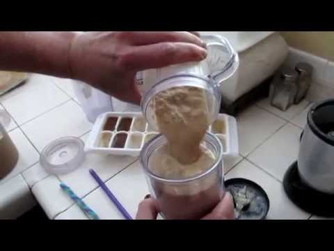 How to Make a Frappe or blended slushie coffee drink low calorie