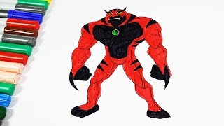 Coloring Pages Ben 10 Ultimate Rath Red Videos Book 2018