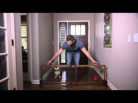 Carlson Design Studio Free Standing Wooden Pet Gate