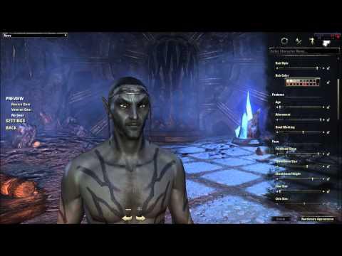 Elder Scrolls Online Character Creation - Dark Elf (In Depth ESO Character Customization Review)