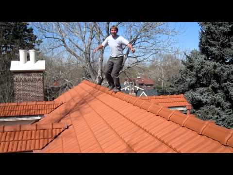 Walking on roof tiles