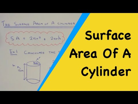 How To Calculate The Surface Area Of A Cylinder Using The Formula