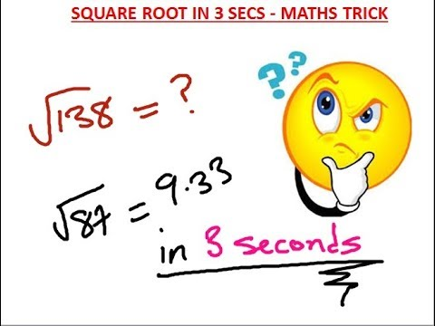 How to Find the Square Root of ANY Number Instantly in 3 secs