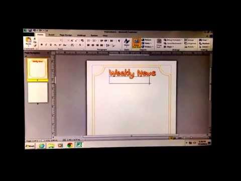 Tutorial for How to Create a Classroom Newsletter Using Microsoft Publisher
