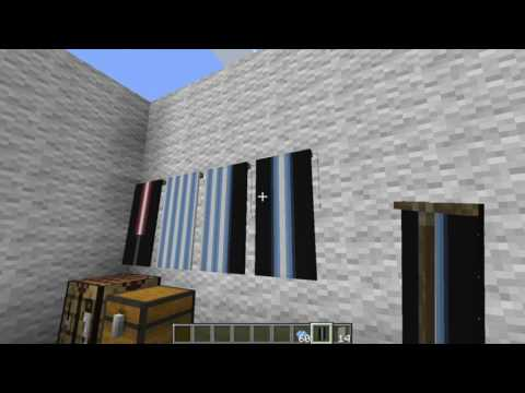 How To Build Lightsaber Banners Minecraft