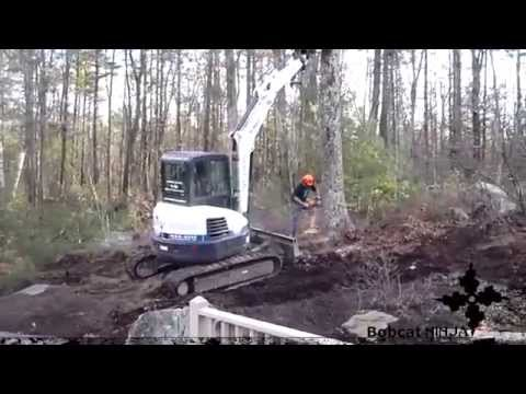 How To: Cutting Down A Tree With Excavator Help