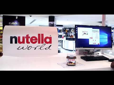 Nutella Personalized Jars at Abu dhabi airport Duty Free